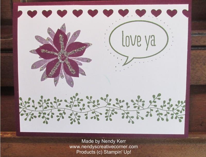 Love Ya Paper Piercing Card