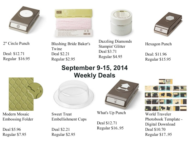 Weekly Deals Sept 9, 2014