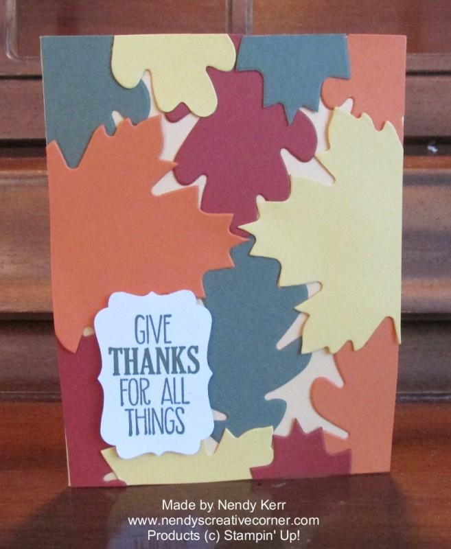 Leaf Background Card
