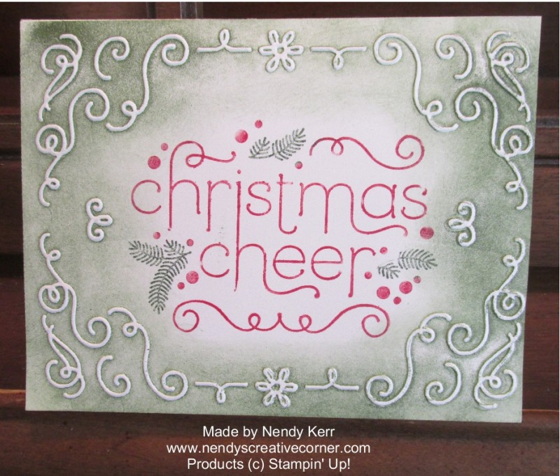 Christmas Cheer & Filigree Frame card