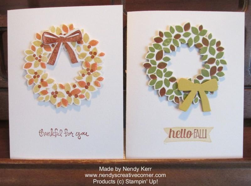 Wonderous Wreath Fall Cards