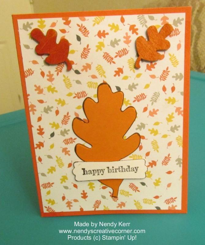 Fall Leaf Birthday Card
