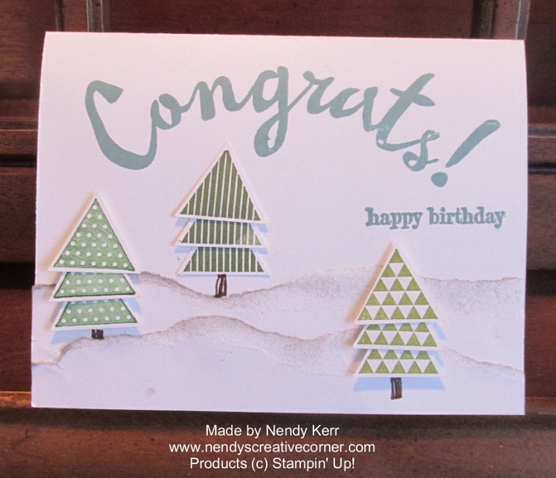 Christmas Tree Birthday Card