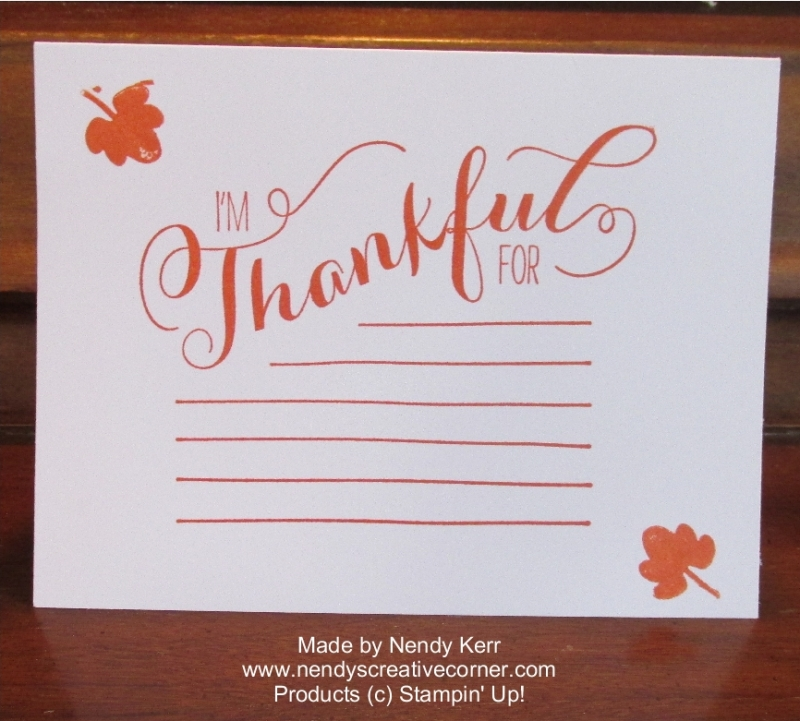 Thankful For..... Card