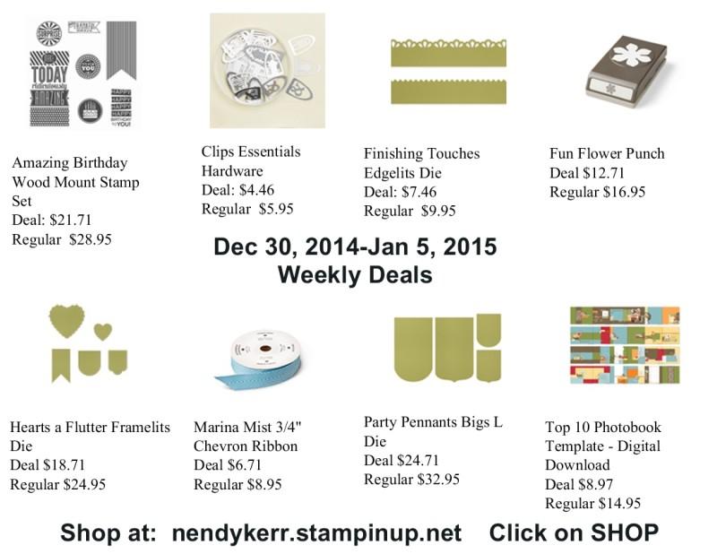 Weekly Deals for December 30, 2014-Jan 5, 2015
