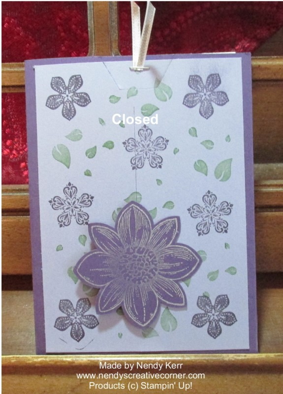 Sliding Flower Card-Closed