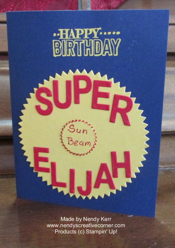 Super Boy's Birthday Card