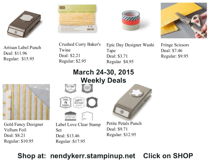 Weekly Deals March 24-30, 2015