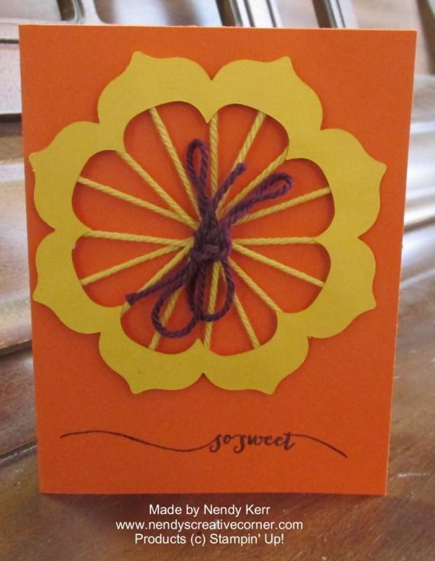 Floral Frames Baker's Twine Card