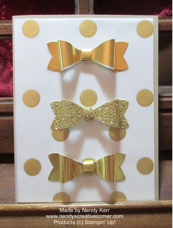 Gold Bow Card