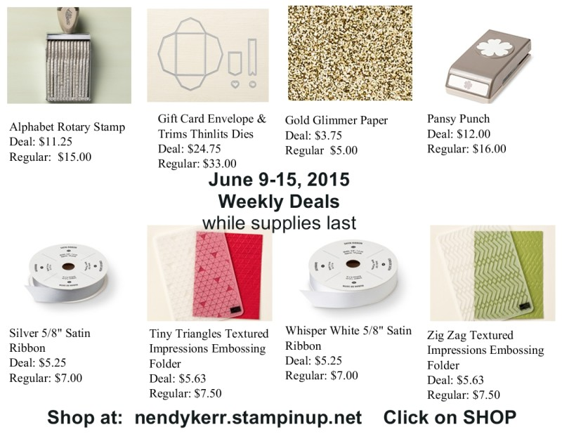 Weekly Deals for June 9-15, 2015