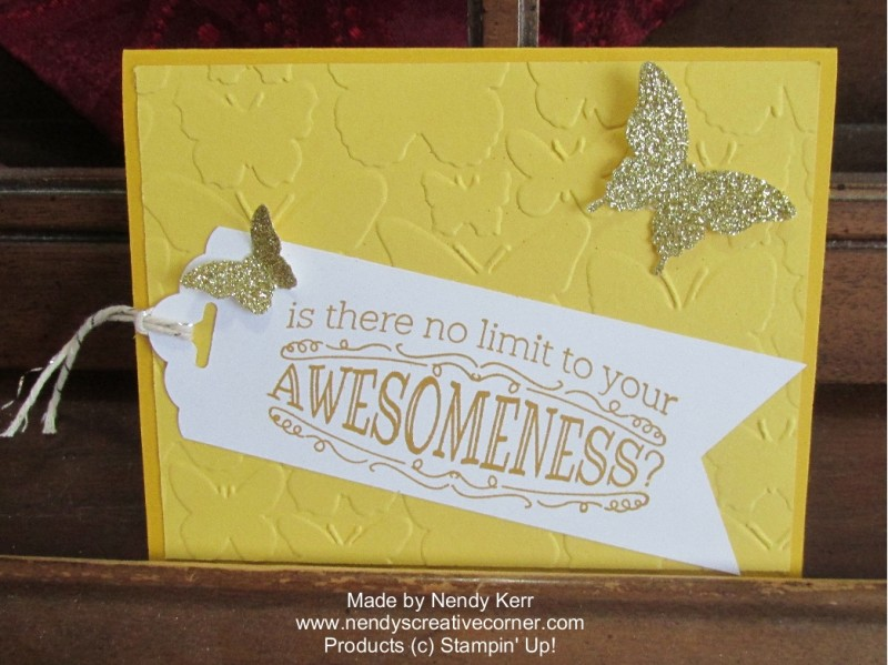 Awesome Butterfly Card