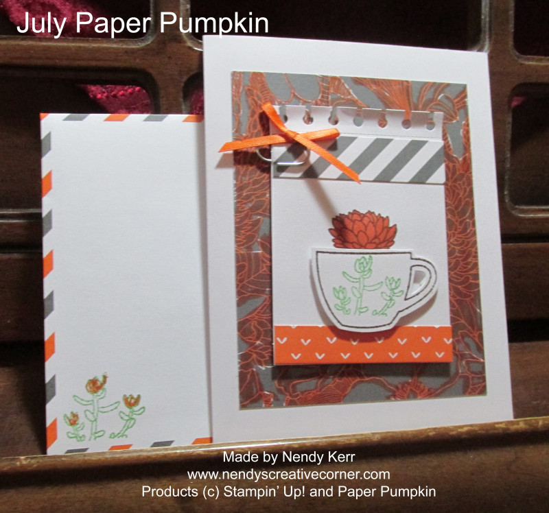 July Paper Pumpkin Card
