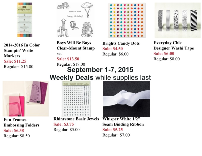 Weekly Deals September 1-7, 2015