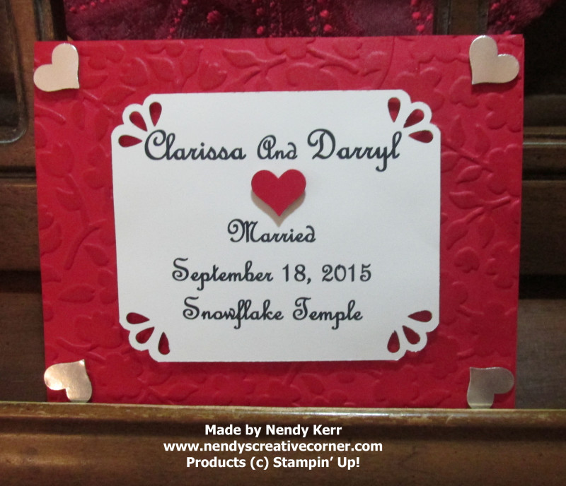Darryl's Wedding Card
