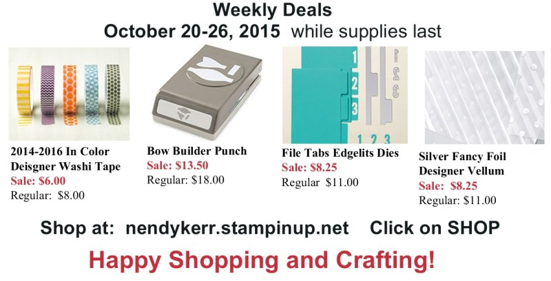 Stampin' Up! Weekly Deals Sale