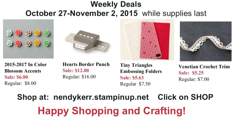 Stampin' Up! Sale for Oct 27-Nov 2, 2015