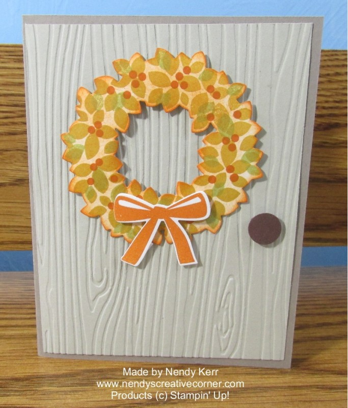 Fall Wreath Card