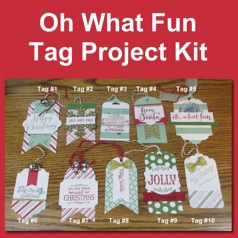 Oh What Fun Tag Kit Instructions