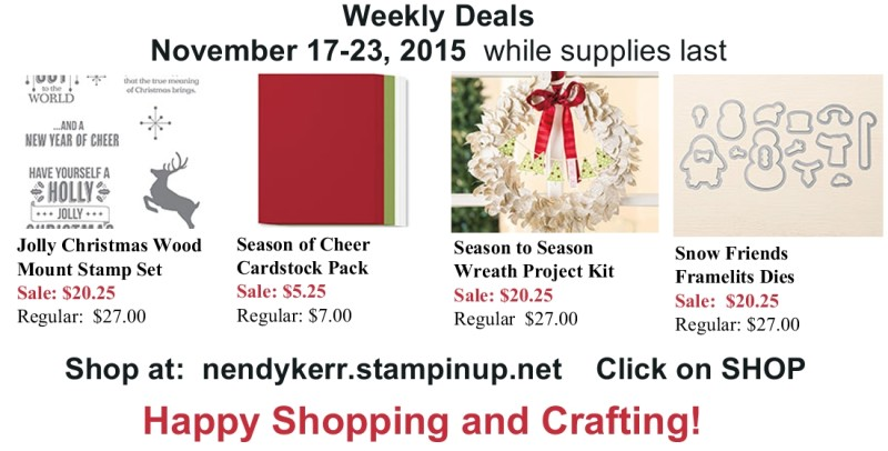 Stampin' Up! Sale for Nov 17-23, 2015