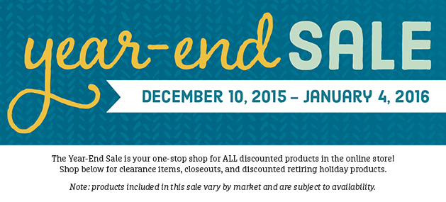 Year-End Stampin Up! Sale