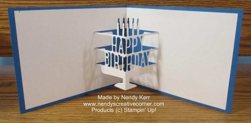 Birthday Pop-Up Card: Open