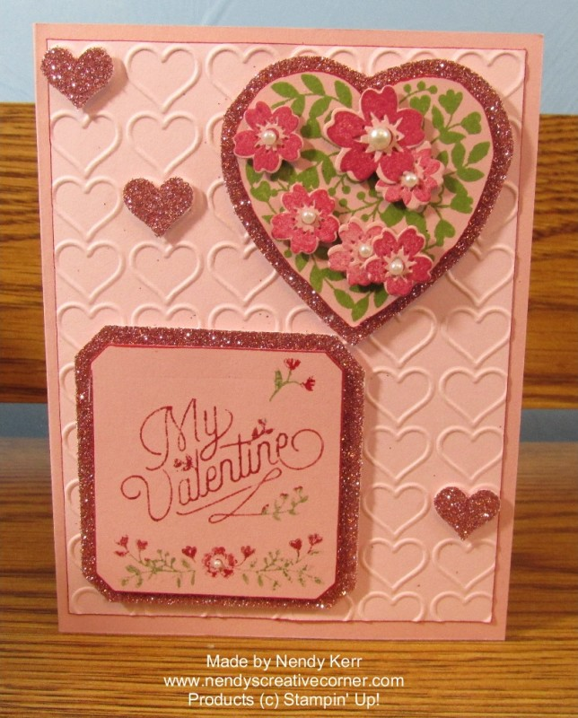 Bloomin' Love Valentine Card in Blushing Bride