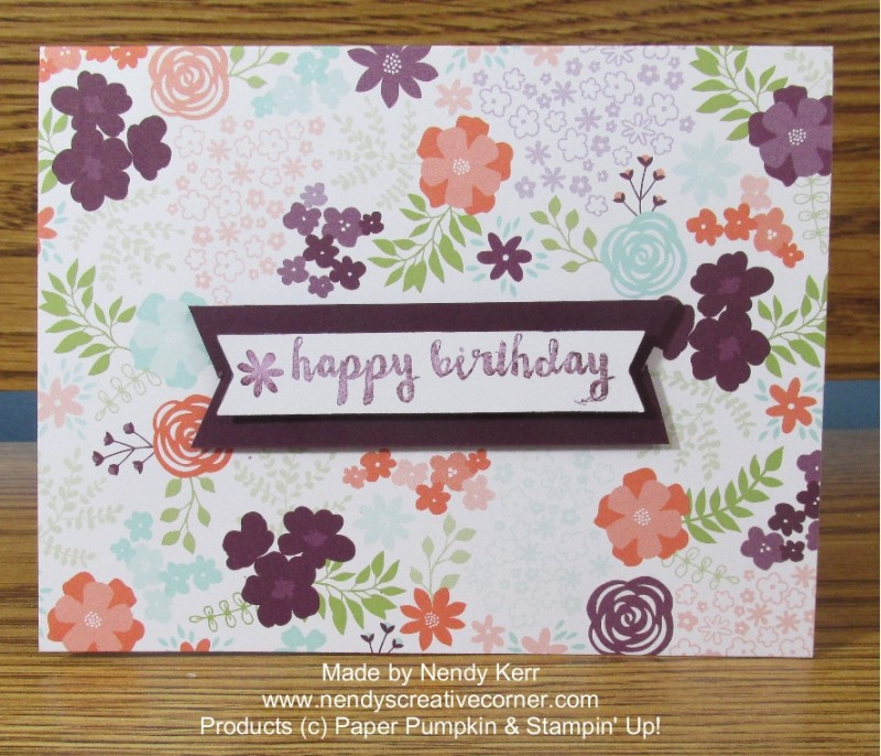 February 2016 Paper Pumpkin card