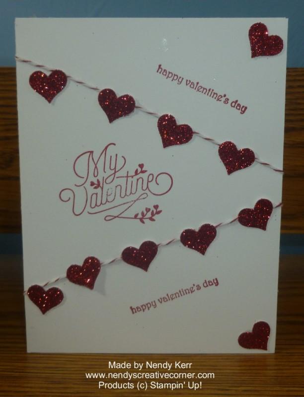 Valentine Heart Banner Card