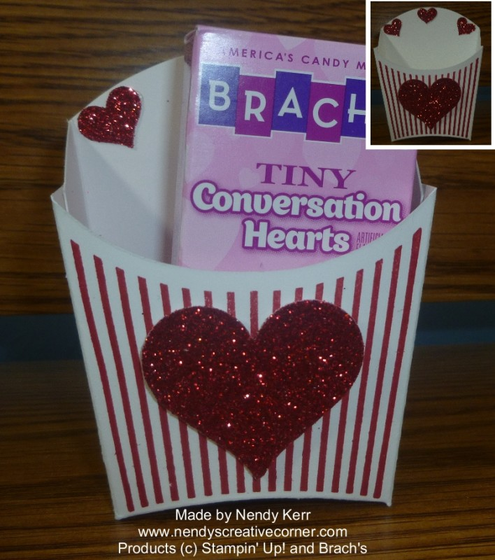 Valentine Fry Box Treat Holder