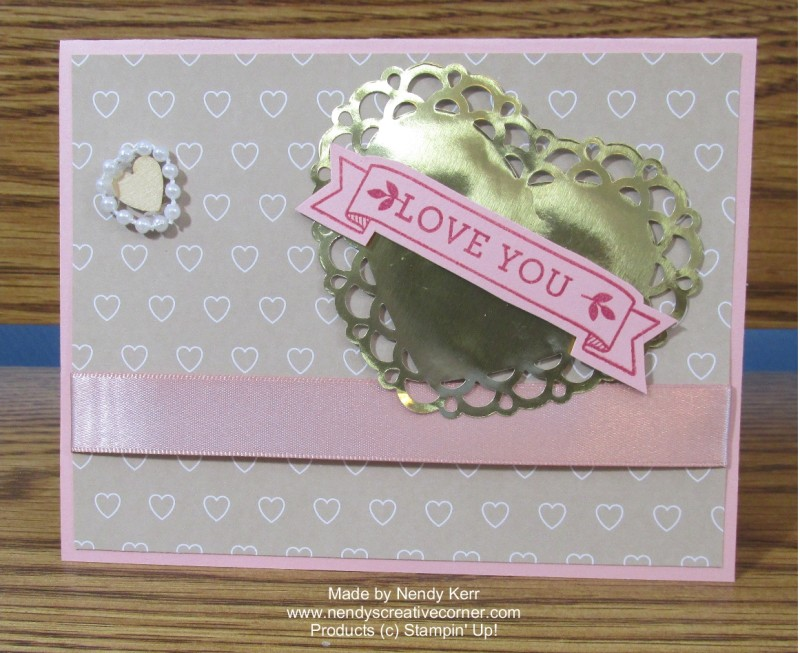 Love Blossoms Embellishment Kit Love You Card