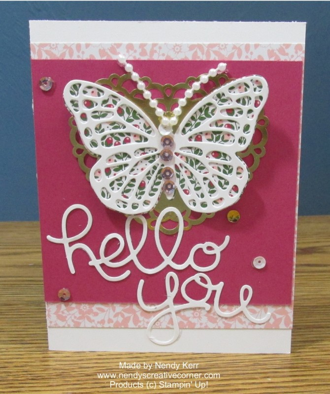 Love Blossoms Embellishment Kit Hello Butterfly Card