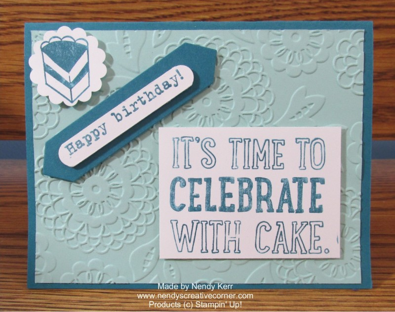 Celebrate With Cake Birthday Card