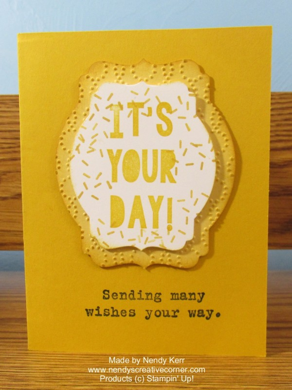 It's Your Day Party with Cake Pop-Up Card