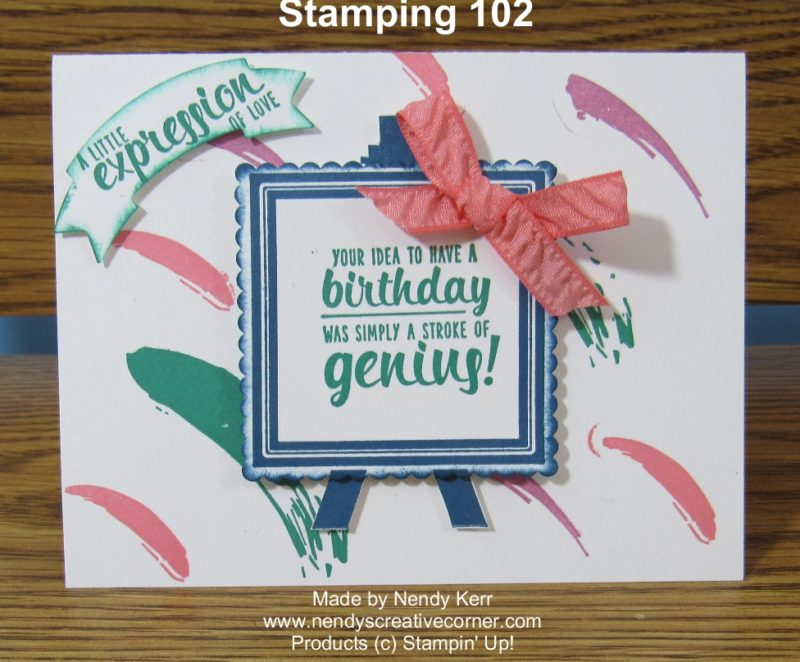 Painters Palette - Stamping 102