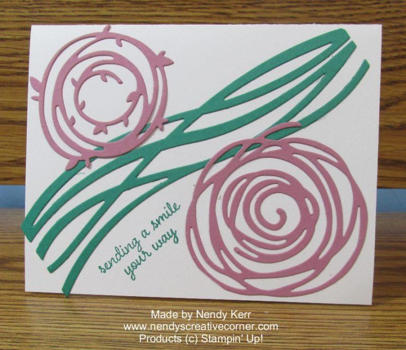 Swirly Scribbles Flower card