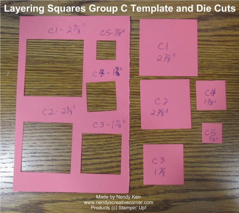 Layering Squares Framelits Template C