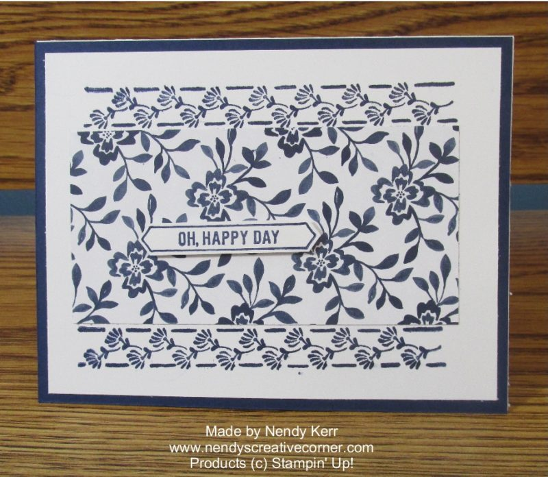 Navy & White Floral Card