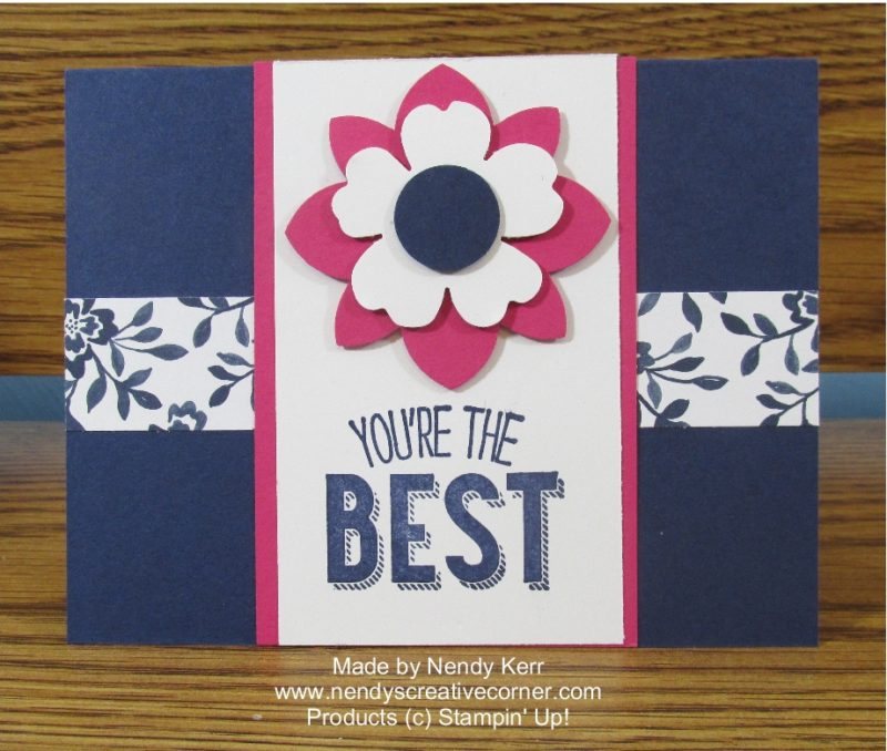 You're the Best Punch Art Flower Card