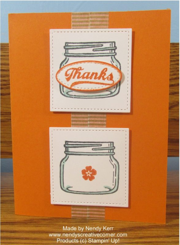 Jar of Thanks card