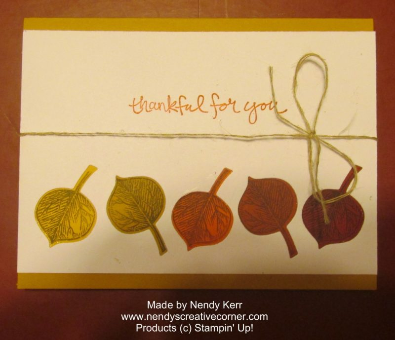 Die Cut Leaf Border Card