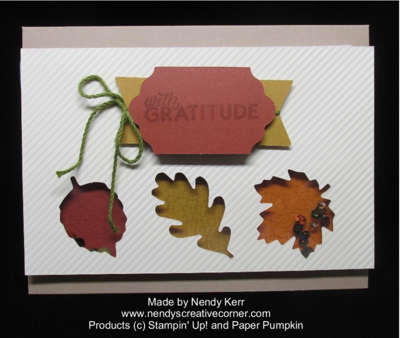 October 2016 Paper Pumpkin Fall Shaker Card
