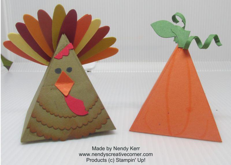 Turkey & pumpkin decorations