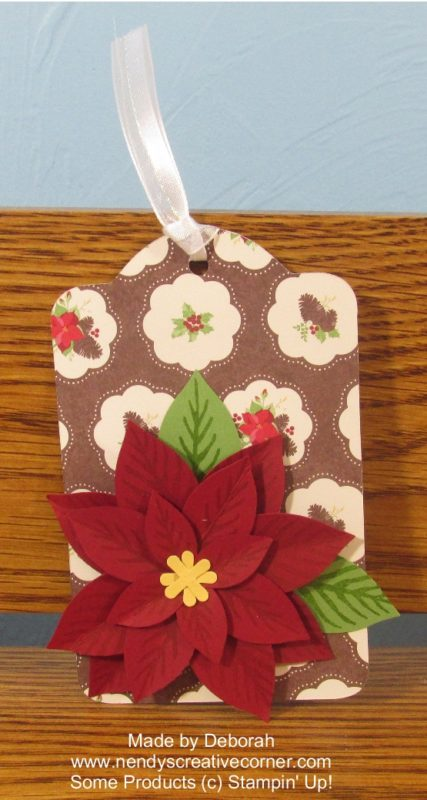 Poinsettia Christmas Tag