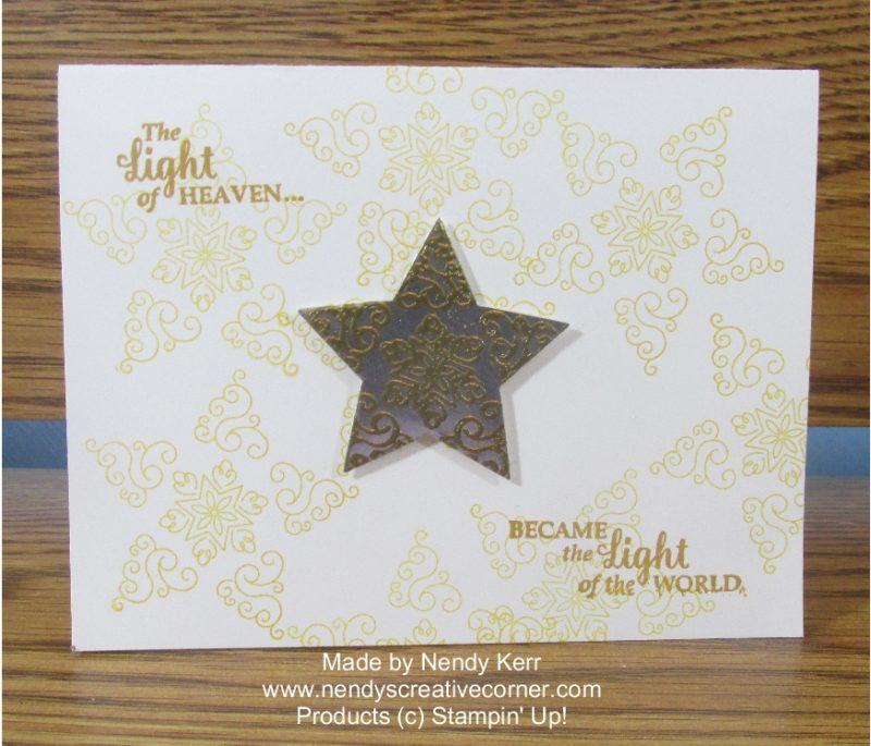 Festive Star Christmas Card