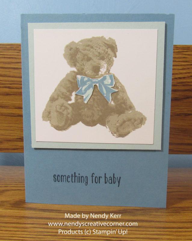 Baby Teddy Bear Card