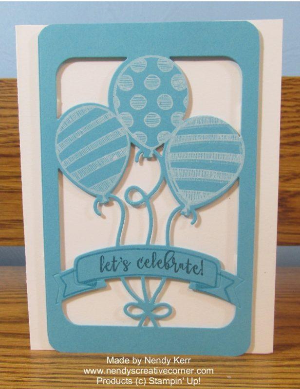 Lets Celebrate Balloon Birthday Card