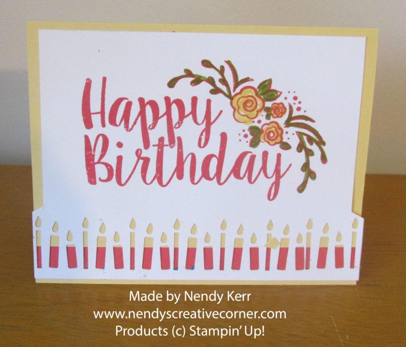 Flower Birthday Candle Card