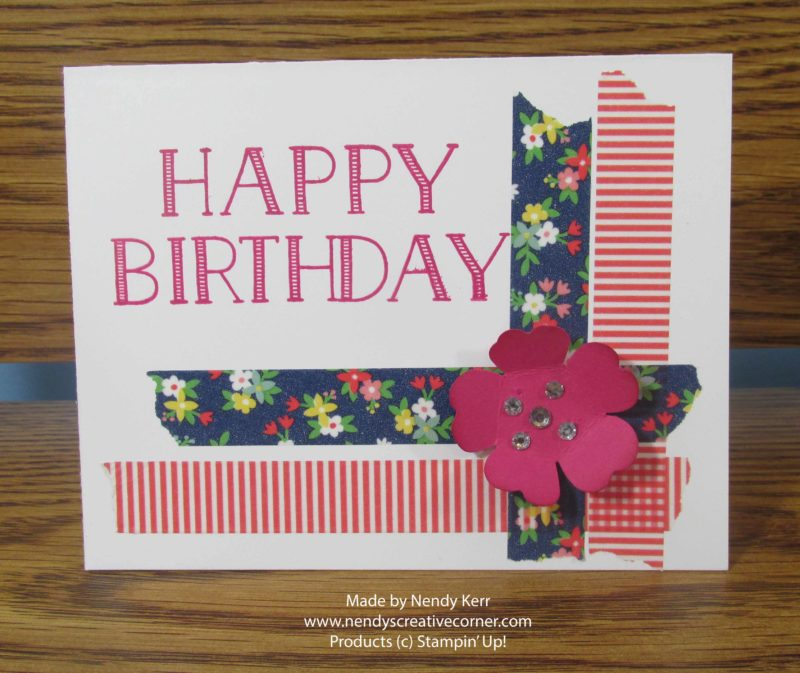 Birthday Washi Tape Card