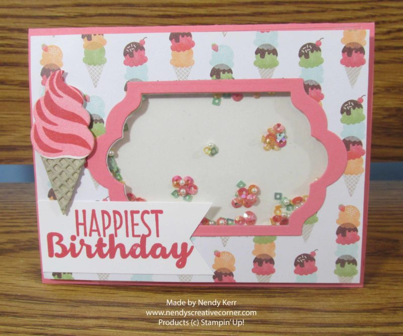 Tasty Treats Ice Cream Birthday Shaker Card